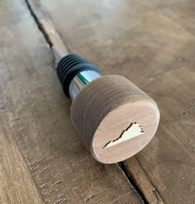 Wood VA Wine Stopper