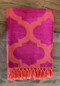 Pink/Orange Throw Blanket