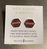 Pink Barrel Earrings