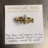 Signature Olive Branch Ring